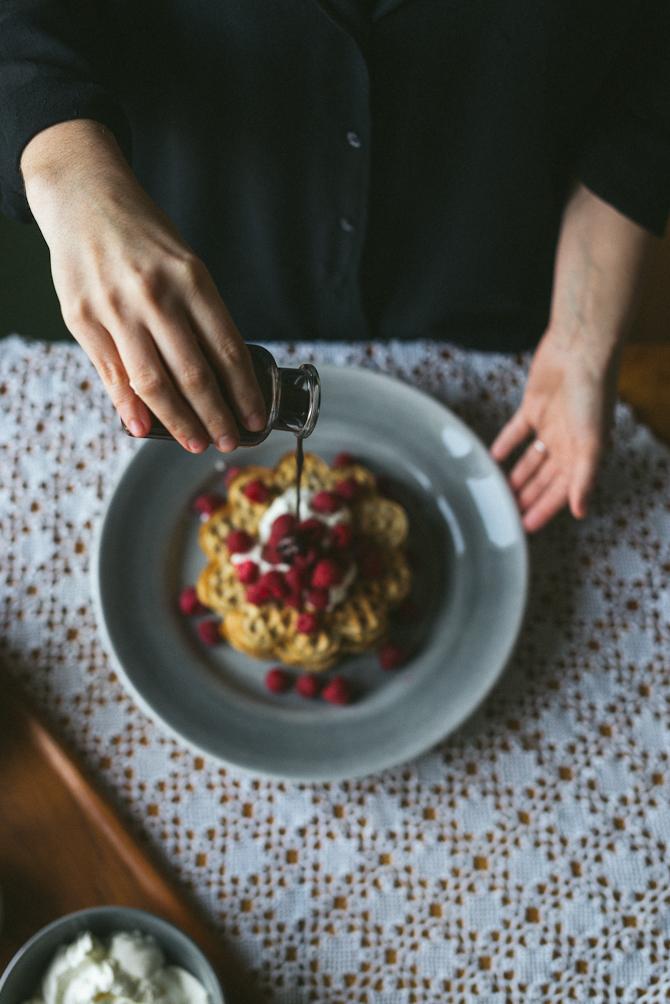 Gluten free waffles by Babes in Boyland