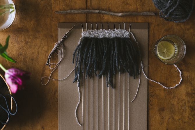How to make your own weaving loom by Babes in Boyland