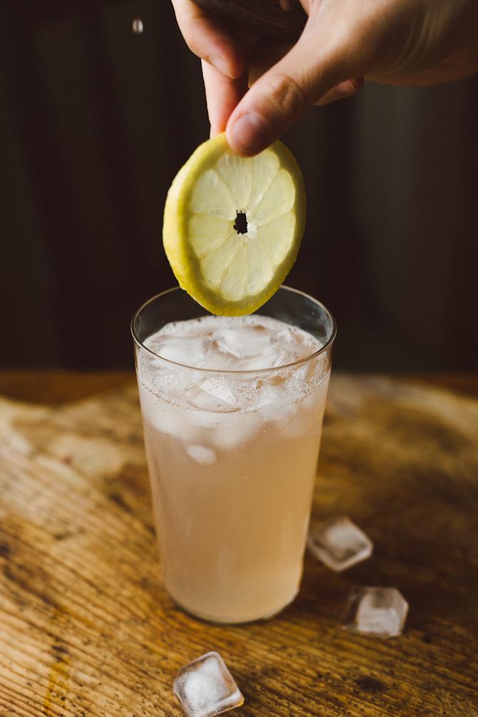 Rhubarb lemonade by Babes in Boyland