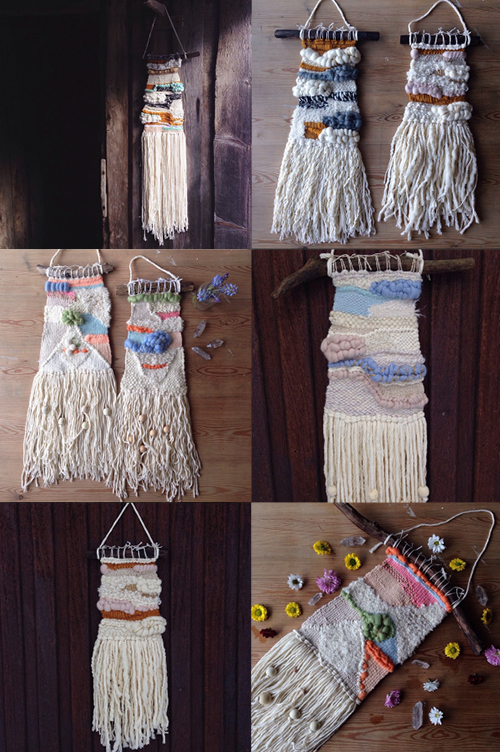 Woven wall hanging by Ellen