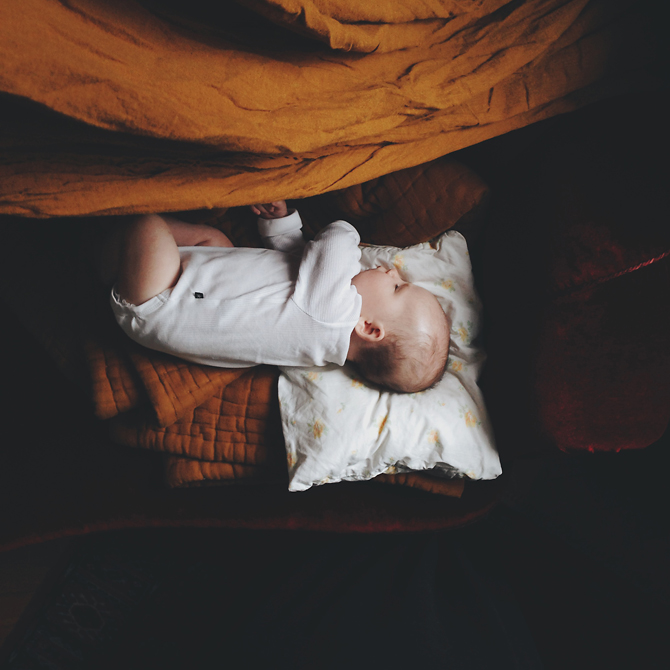 Sleeping baby by Babes in Boyland