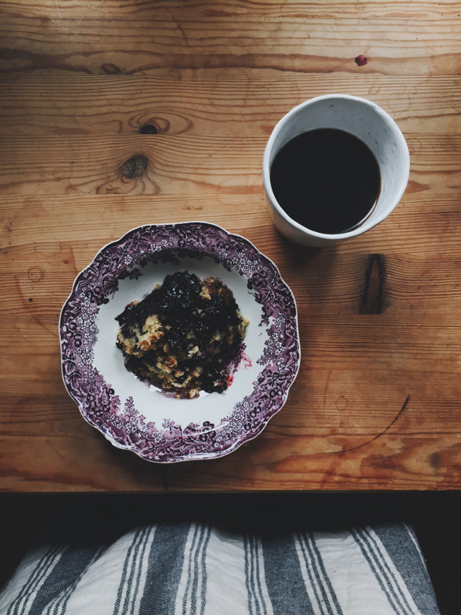 Blueberry pie by Babes in Boyland