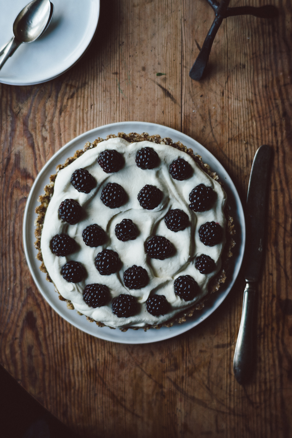 Raw black berry cake by Babes in Boyland