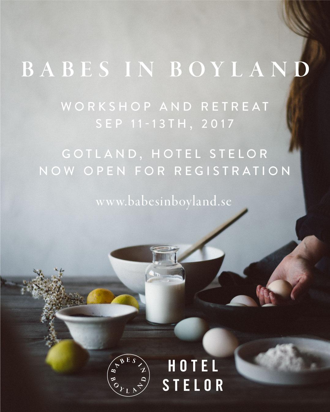 Babes in Boyland – workshop and retreat, Gotland, 11-13 September 2017