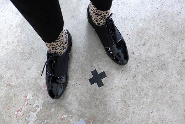 leo strumpor lack skor