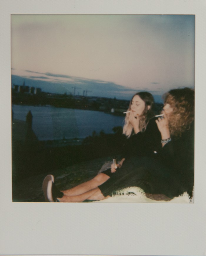Kajsa and Petra  Polaroid © Anna  Malmberg