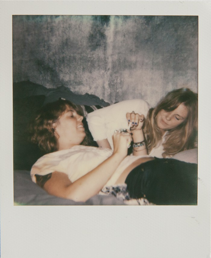 Petra and Filippa Polaroid © Anna  Malmberg