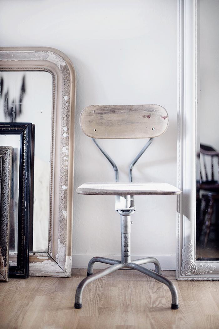 Vintage industri stol © Anna  Malmberg