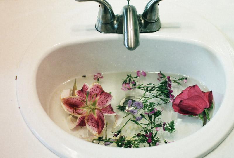 flowersinasink
